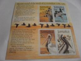 Miniature Sheet Perf Audubon 200th Anniversary - Jamaica (1962-...)