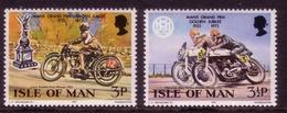 ISLE OF MAN MI-NR. 33-34 ** 50 JAHRE MOTORRADRENNEN - Isle Of Man