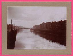 Photo Albuminée - Dublin - Pont Holloway - Bridge - Animée - 1890 - Photos