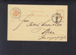 Hungary Stationery 1880 Kassa To Vienna - Hungary