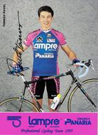 CARTE CYCLISME PAVEL TONKOV SIGNEE TEAM LAMPRE1995 - Ciclismo