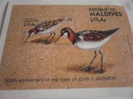 Miniature Sheet Perf 200th Anniversary Audubon - Maldives (1965-...)