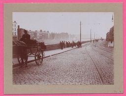 Photo Albuminée - Dublin - Calèche - Diligence Dans Les Rues De Dublin - Animée - 1890 - Photos