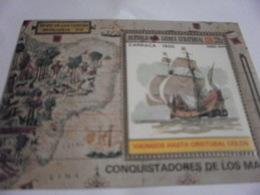 Miniature Sheet Perf Conquistadors Carraca 1500 - Equatorial Guinea