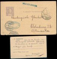 S7958 - Portugal GS Postkarte Mit Privat Zudruck: Gebraucht Porto - Oldenburg 1896 , Bedarfserhaltung. - Ganzsachen
