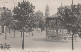 LILLE - Le Square Et L'Eglise Saint-Sauveur - - Lille