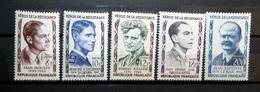 FRANCE 1957 N°1100 À 1104 * (HÉROS DE LA RÉSISTANCE 1ÈRE SÉRIE) - France