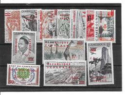 """1961 12 Valeurs Surchargées"""" République Fédérale"""" Neuves ** - Cameroon (1960-...)"""