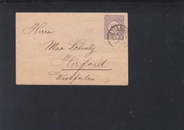 Niederlande Kleinbrief 1894 Rotterdam Nach Herford - Periodo 1891 – 1948 (Wilhelmina)