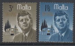 Malta 1966 J.F. Kennedy 2v ** Mnh (42796H) - Malta