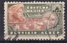 Messico, 1934/35 - 1p Eagle Man And Airplane - Nr.C72 Usato° - Messico