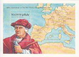 1989 Maldives Postal System Maps Complete Set Of 1 Souvenir Sheet  MNH - Malediven (1965-...)