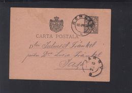 Romania Stationery 1894 Berlad To Jassy - Ganzsachen