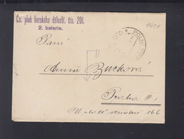 Czechoslovakia Field Post Letter 1920 - Czechoslovakia