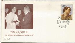 VATICANO 1971 VISITA DE PABLO VI AL MARISCAL TITO DE YUGOSLAVIA PAPA POPE - Papas