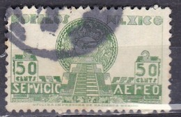 Messico, 1934/35 - 50p Allegory Of Flight And Pyramid Of The Sun - Nr.C71 Usato° - Messico