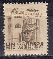 Messico, 1950/52 - 1p Convent And Carved Head - Nr.864 Usato° - Messico