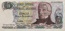 Argentina 5 Peso Argentino, P-312 (1983) - UNC - Argentina