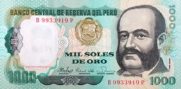 Peru 1.000 Soles De Oro, P-122 (5.11.1981) - UNC - Pérou