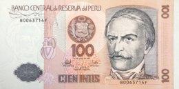 Peru 100 Intis, P-133 (26.6.1987) - UNC - Peru