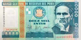 Peru 10.000 Intis, P-140 (28.6.1988) - UNC - Peru