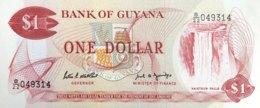 Guyana 1 Dollar, P-21f (1989) - UNC - Sign.7 - Guyana