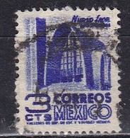 Messico, 1950/52 - 3c Modernistic Church - Nr.856 Usato° - Mexico