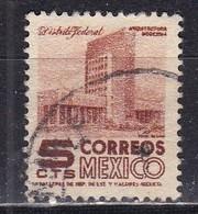 Messico, 1950/52 - 5c Modern Building - Nr.857 Usato° - Mexico