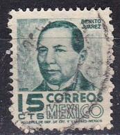 Messico, 1950/52 - 15c Benito Juarez - Nr.859 Usato° - Messico