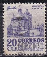 Messico, 1950/52 - 20c Puebla Cathedral - Nr.860 Usato° - Mexico