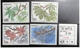 D - [835899]TB//**/Mnh-c:6e-Monaco  - PRE70/73, Quatre Saison Du Maronnier, Nature, Végétaux, Arbres - Monaco