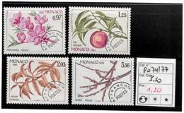 D - [835901]TB//**/Mnh-c:6e-Monaco  - PRE74/77, Quatre Saison Du Pêcher, Nature, Végétaux, Arbres - Monaco
