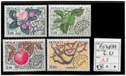 D - [835904]TB//**/Mnh-c:6e-Monaco  - PRE78/81, Quatre Saison Du Pommier, Nature, Végétaux, Arbres, Fruits - Monaco