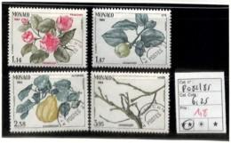 D - [835905]TB//**/Mnh-c:6e-Monaco  - PRE82/85, Quatre Saison Du Cognassier, Nature, Végétaux, Arbres, Fruits - Monaco
