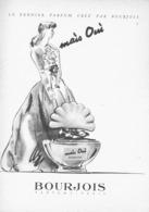 """PUB PARFUM """" MAIS OUI  """" De  """" BOURJOIS  """"   1940'S ( 9 ) - Other"""