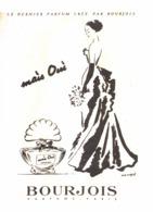 """PUB PARFUM """" MAIS OUI  """" De  """" BOURJOIS  """"   1940'S ( 12 ) - Other"""