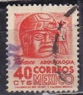 Messico, 1950/52 - 40c Stone Head - Nr.862 Usato° - Mexico
