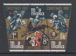 Malta 1967 Christmas / Weihnachten 3v ** Mnh (42797) - Malta