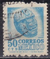 Messico, 1950/52 - 50c Carved Head - Nr.863 Usato° - Messico