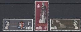 Malta 1967 Visit Queen Elizabeth II 3v ** Mnh (42797B) - Malta