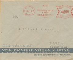 BuM (IMG2610) - Böhmen Und Mähren (1942) Brünn 15 - Brno 15: Solidarity - Bee In Brünn (workers' Food Association) - Abeilles