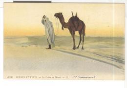 CPA Scènes Et Types - La Prière Au Désert - Non Circulée - Cartes Postales