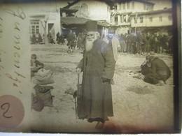 GRECE - Macédoine - GOUMENISSA ( Gumentzé ) -  Un Pope - Rare Plaque De Verre Stéréoscopique  - 1917 - TBE - Glass Slides