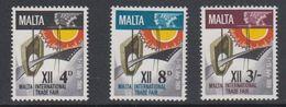 Malta 1968 12. Internationale Handelsmesse 3v ** Mnh (42797D) - Malta