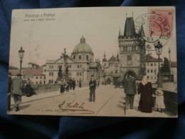 Prague  Pont Charles  Karluv Animée  Colorisée  Ed. Jedlicka Précurseur  Circulée 1904 - R321 - Tchéquie