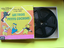 Film Walt-Disney - Les Trois Petits Cochons - Super 8 - N & BL - Autres Formats