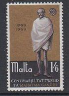 Malta 1969 Mahatma Gandhi 1v ** Mnh (42797F) - Malta