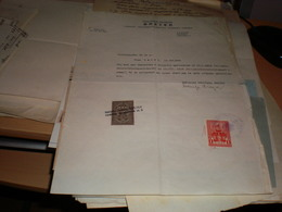 Zagreb Nakladna Knjizara Breyer  Bookshop Taksena Marka Grad Osijek Tax Stamps - Other