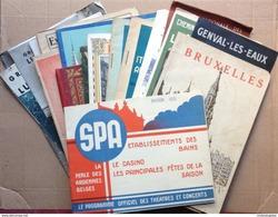 LOT 23 PLAQUETTES BROCHURES TOURISTIQUES BELGIQUE LUXEMBOURG ANNEES 30 - Dépliants Touristiques