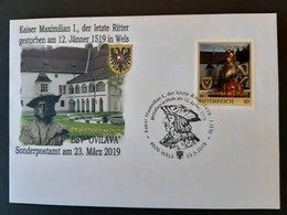 Österreich- Pers.BM Schmuckkuvert Kaiser Maximilian I. Mit Sonderstempel Wels - Austria